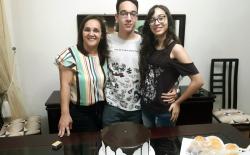<p>João Guilherme comemora mais um ano dia 17-07. Elerecebe os parabéns de sua mãe Valdeci, sua namorada Luana ede toda equipe daAnova Revista.</p>